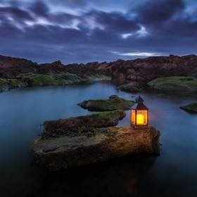 Leça da Palmeira, Portugal, at blue hour