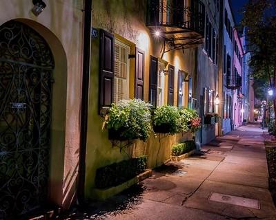 Sidewalk at night #1 (1 of 1)