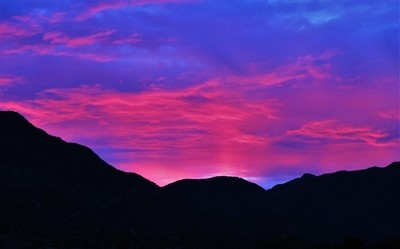 MG_6814, Red Sky Sunset, Huachuca Mountains, Arizona, 6 Oct 16