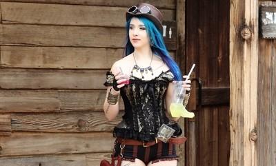 IMG_9303, A Steampunk Lady at Old Tucson Movie Studios, 3 Mar 17