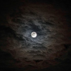 The moon through lovely clouds, above Alcester in Warwickshire, UK.  Very subtle structure and sharpening used in HDR, otherwise untouched.  Cano...