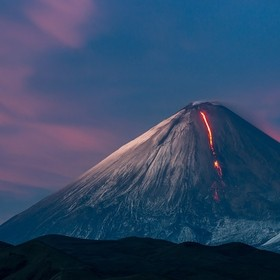 Kamchatka.  The eruption of the volcano Kluchevskoy.