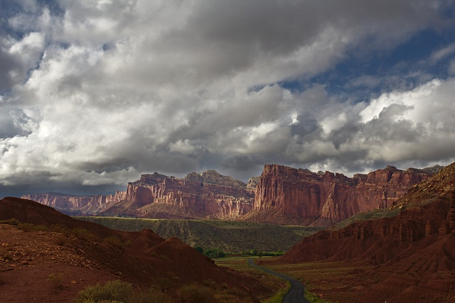 Taken in August of 2015 shortly after a thunder storm in Capitol Reef National Park, Utah. The cl...