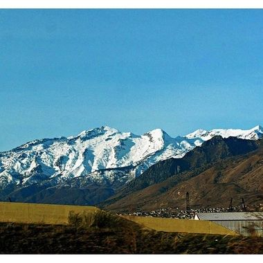 On the way to Salt Lake City from Moab, Utah.