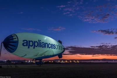 Morning at Archerfield Airport with the Blimp