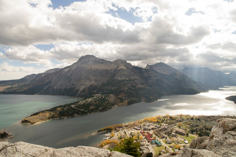 Took this picture of the massive Vimy Ridge with the Waterton Townsite in the foreground. Definit...