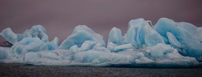 Coloured icebergs, Jökulsárlón Lagoon, Iceland