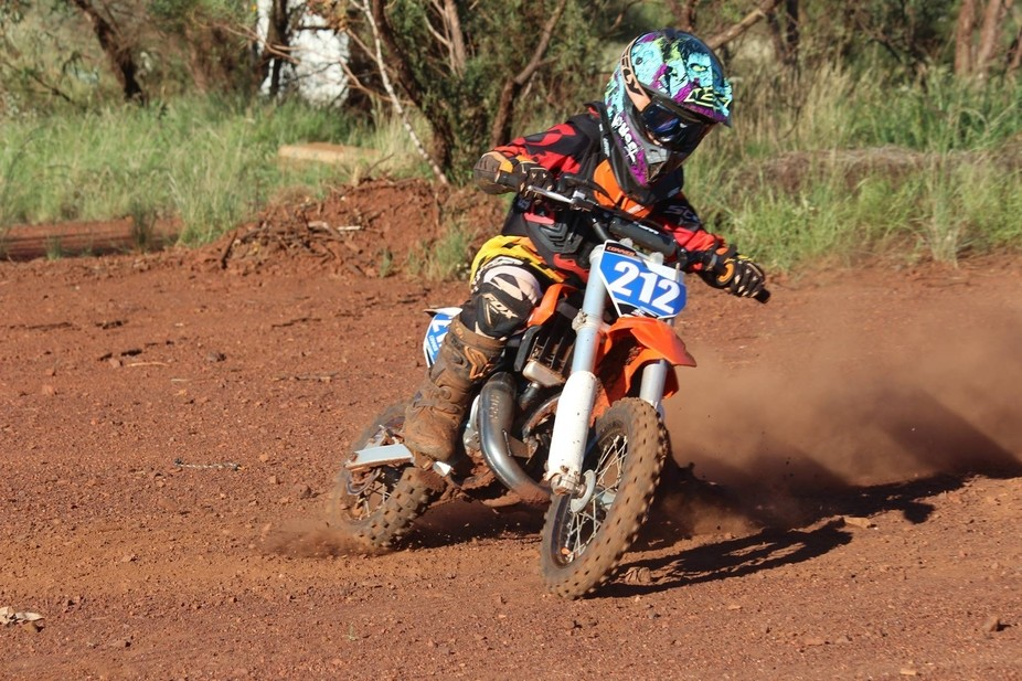 Conner at a training clinic in Tom Price WA