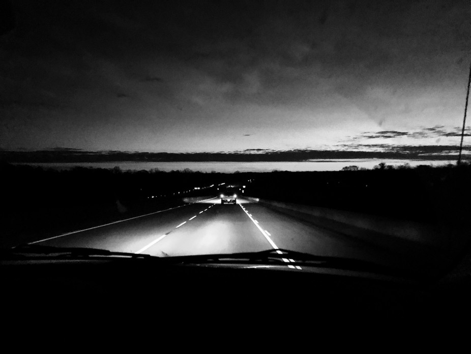 Early morning drive into Baton Rouge.