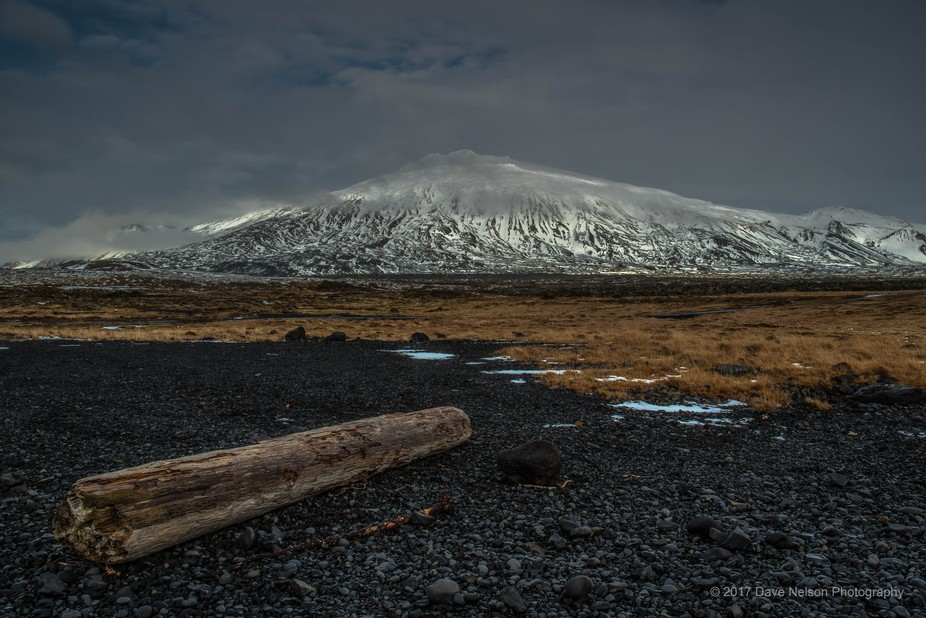 Snaefellsjokull volcano is situated at the tip of the Sanefellsness Peninsula in West Iceland. At...