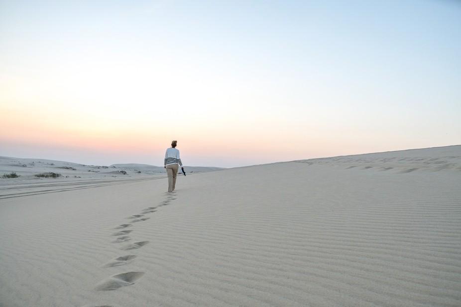 A stroll in the desert in Qatar
