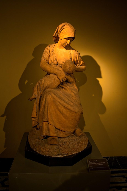 Picture taken in London, UK Terracotta from Aimé Jules Dallou 1838-1902