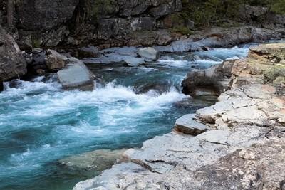 Raging River in Glacier National Park, Montana