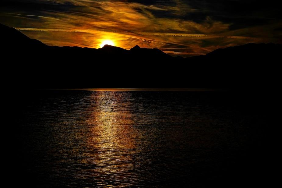 Sunset in Bellagio, IT