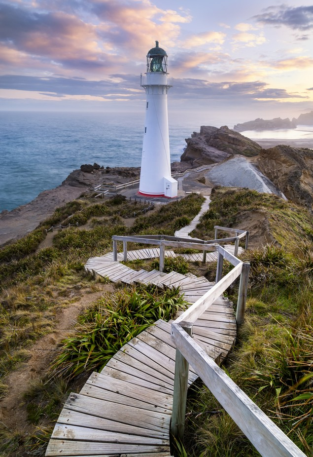 Follow the Light - Castle Point Lighthouse, New Zealand by jfischerphotography - Stairways Photo Contest