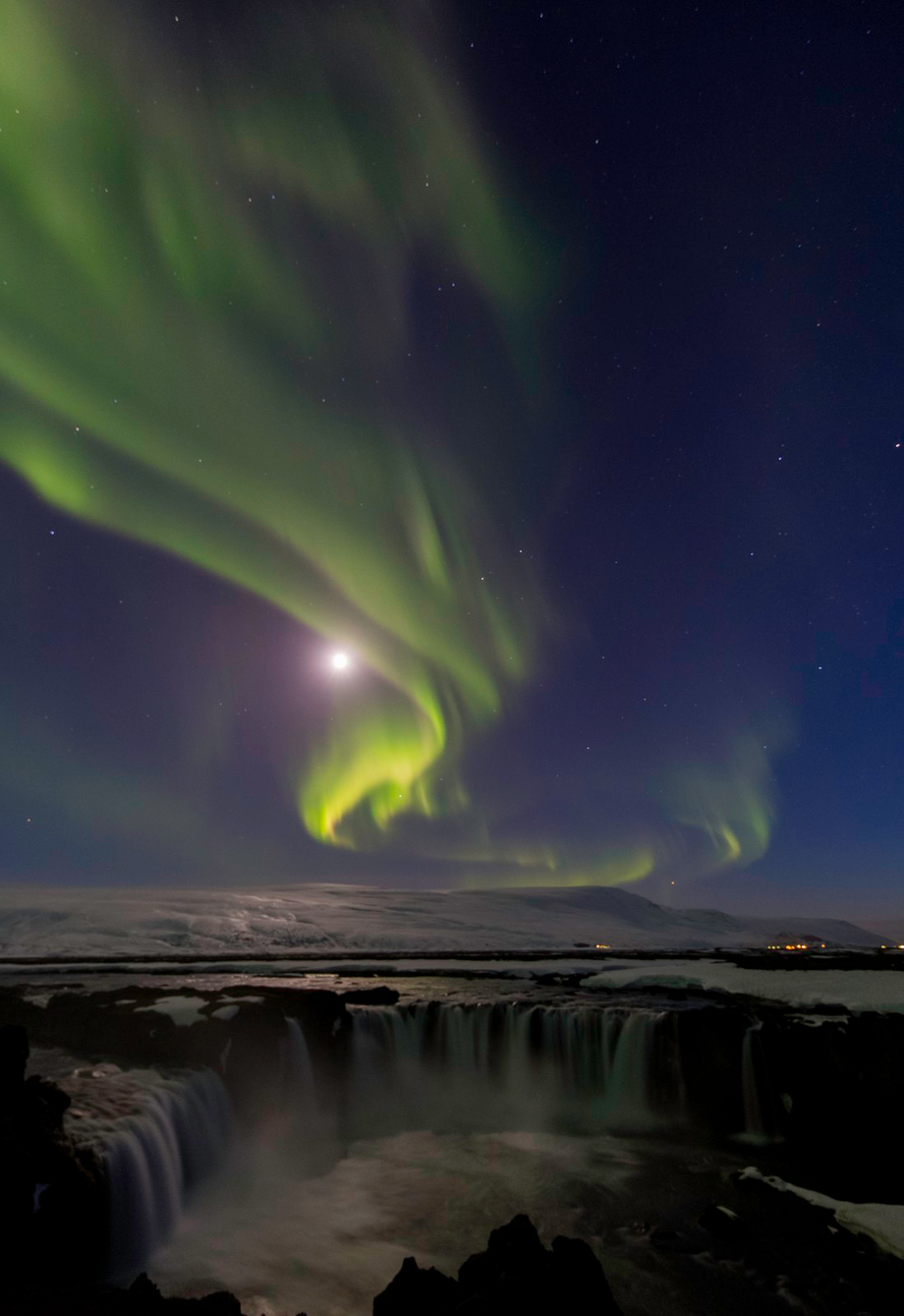 Aurora over Godafoss by hammerphotos - Long Exposure In Nature Photo Contest