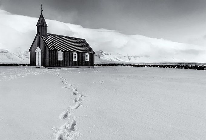 The Black Church by beamieyoung - Winter In Black And White Photo Contest