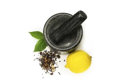 Granite mortar & lemon