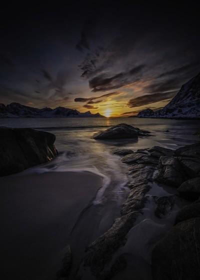 Sunset in Lofoten Islands