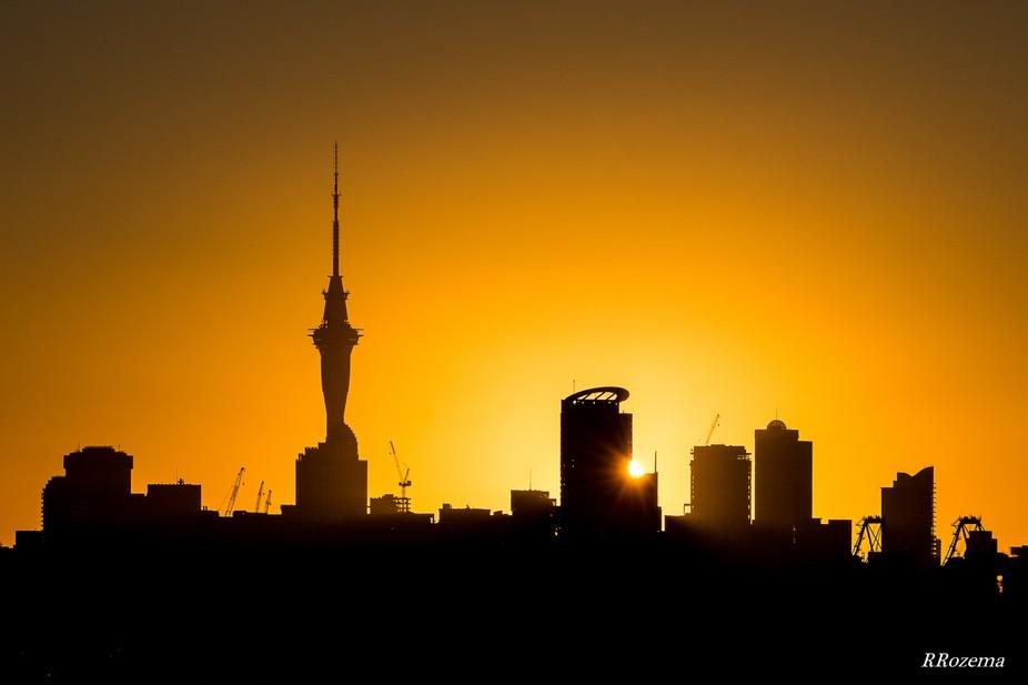 Sunset Auckland City, New Zealand