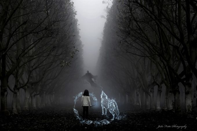 Protector in the Dark by Julie_Fritts - Fantasy In Color Photo Contest
