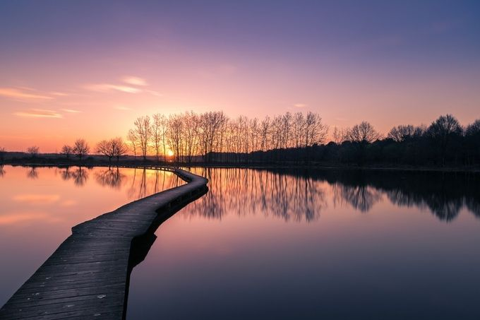 Path to the sun by alexriemslag - Lakes And Reflections Photo Contest