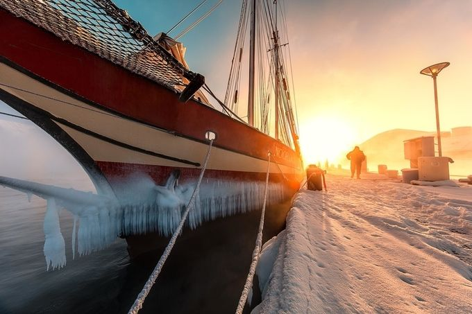 Sunrise at the harbour. by paaluglefisklund - Orange Is The Color Photo Contest