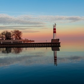 Lighthouse at Montrose Harbor