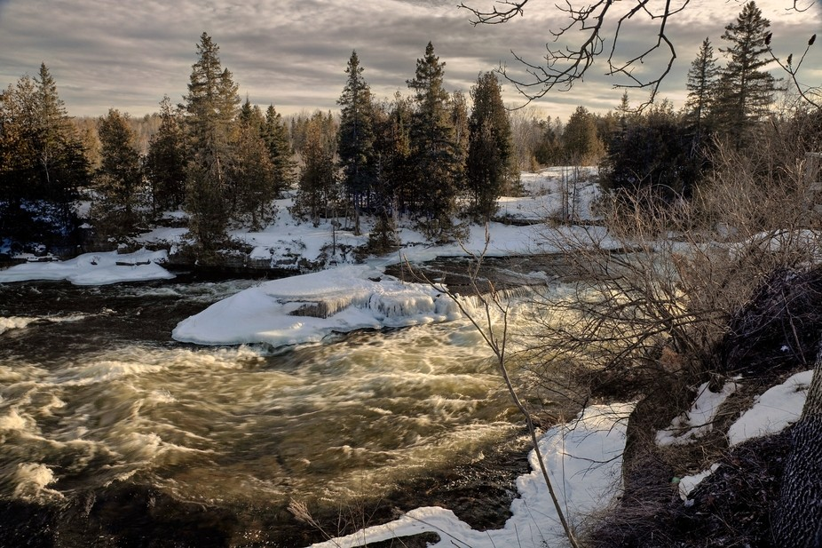 Spring Thaw on the Bonnechere River, Ontario, Canada.