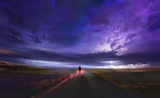 the way back home by joecas - People At Night Photo Contest