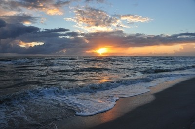 Sunset at Bowman's Beach