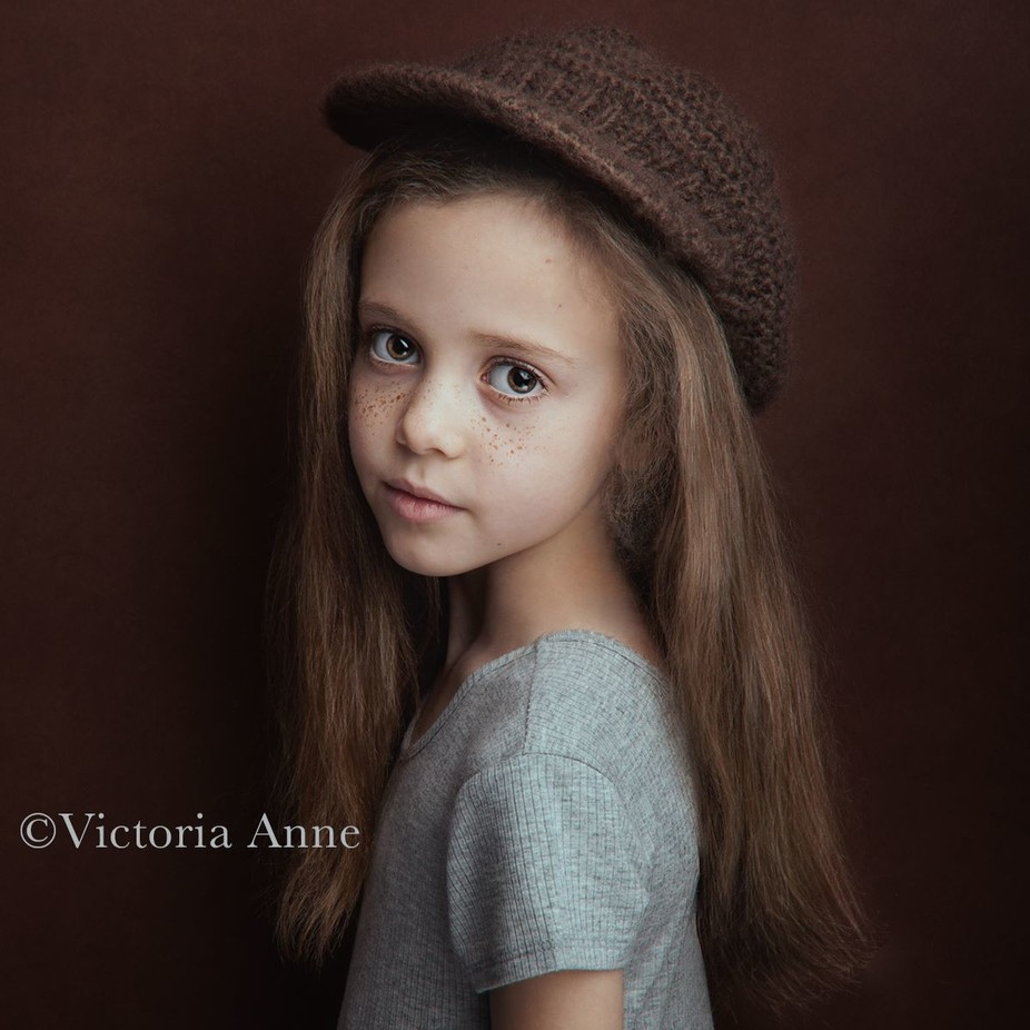 The girl with the perfect freckles  by Victoria_Anne - Hats Photo Contest