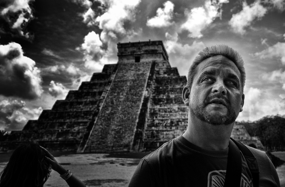 My first trip to Chichen Itza in Mexico... standing within the square... I had waited my entire l...
