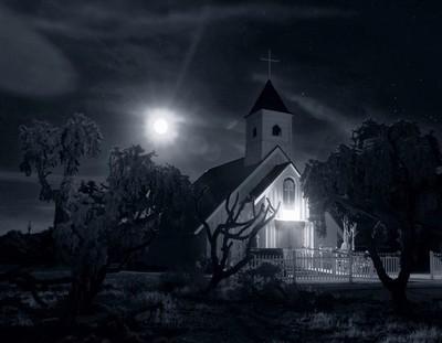 Moon Over Elvis Chapel