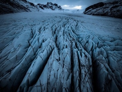 Skaftafell Glacier, Iceland. Part of my 'From Above' collection.