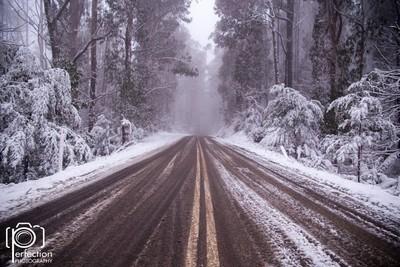 Mt matlock winter snow victorias high country. Victoria Australia.