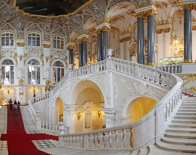 Grand staircase (the Jordan staircase). The Winter Palace.The State Hermitage Museum. Saint-Petersburg.