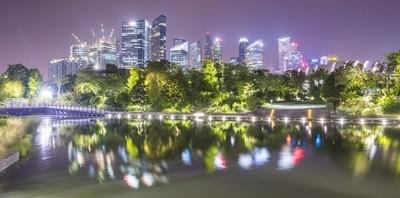 Singapore Skyline by Sirius Art