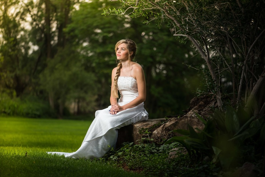 I took this one during a bridal wear shoot. The weather was completly over cast with a drizzle. O...