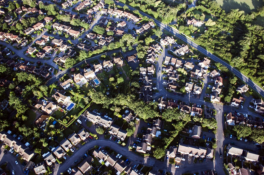 Shot while having a balloon flight, this just seemed to be a haphazard way of building homes.