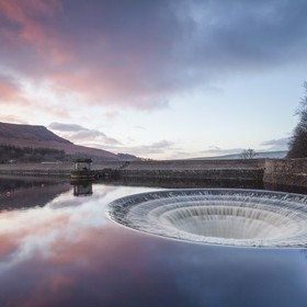 A still from a 1069 shot timelapse from this mornings sunrise at Ladybower res plug hole. The sky looked awesome!