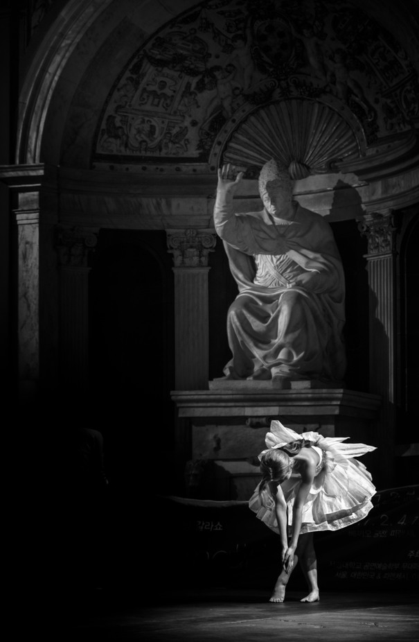 The dancer and the pope by livioferrari - Monochrome Creative Compositions Photo Contest