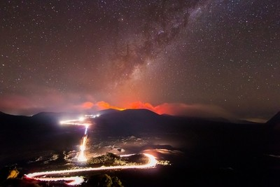 Road of Volcano and Stars