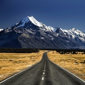 The road to Mt. Cook, New Zealand