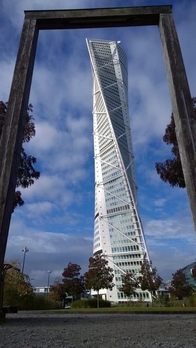 Framed Turning Torso Skyscraper
