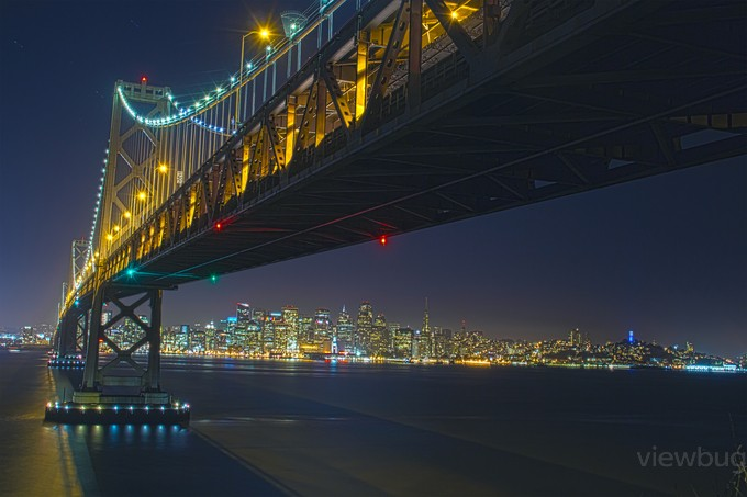 Bay Bridge 06.23.15 (98-100)HDR2-1  13X19.5 by samfashionphoto - Color In The Night Photo Contest