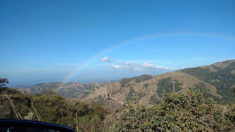 Driving from the Monteverde Cloud forest to Tamardindo we saw this beautiful rainbow.
