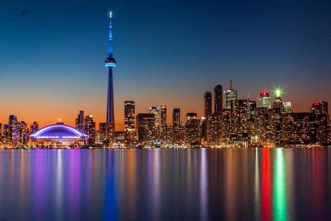 View of Toronto Canada  by Ivananosic - Color In The Night Photo Contest
