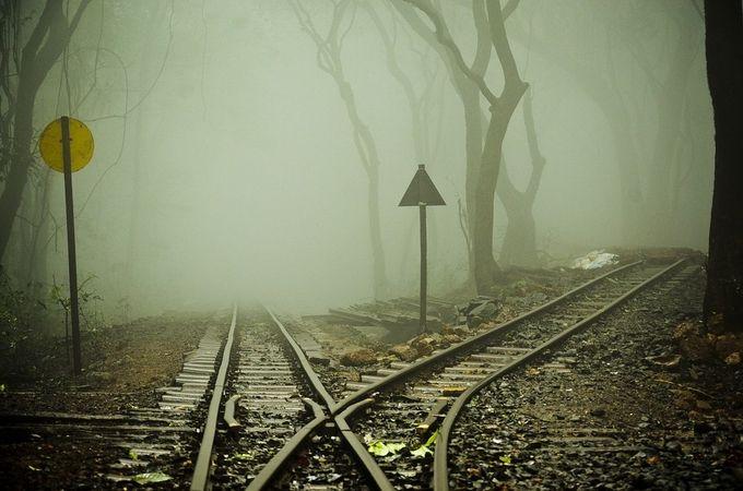 The Foggy Track by harrydp - Empty Railways Photo Contest