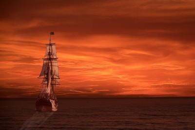 Tall Ship at Sunset  Day 1 of Tallship Week   #083 of 365